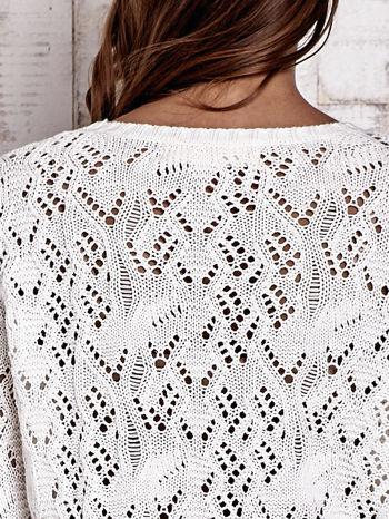 TOM TAILOR Ecru ażurowy sweter                                  zdj.                                  7