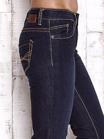 TOM TAILOR Granatowe spodnie jeansowe z prostą nogawką                                  zdj.                                  5