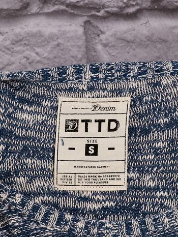 TOM TAILOR Niebieski melanżowy sweter                                   zdj.                                  4