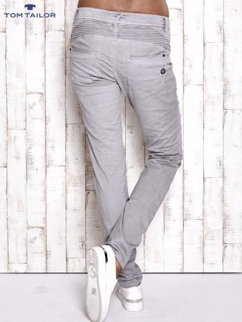 TOM TAILOR Szare materiałowe spodnie                                  zdj.                                  2