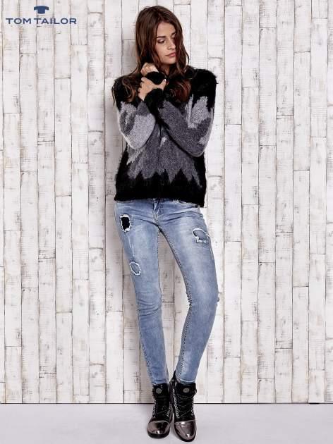 TOM TAILOR Szary wełniany sweter z abstrakcyjnym deseniem                                  zdj.                                  5