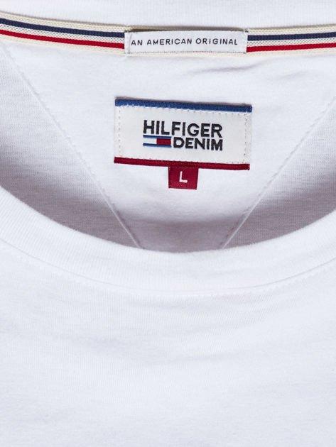 TOMMY HILFIGER Biała bluzka męska z nadrukiem                              zdj.                              6