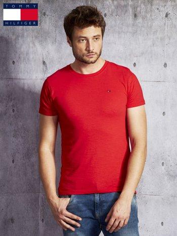 TOMMY HILFIGER Czerwony t-shirt męski                               zdj.                              1