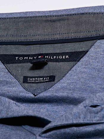 TOMMY HILFIGER Niebieska koszulka polo męska                                  zdj.                                  4