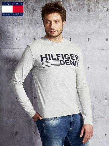 TOMMY HILFIGER Szara bluzka męska z nadrukiem                                  zdj.                                  5