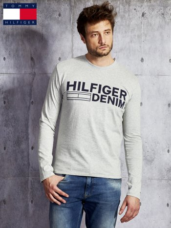 TOMMY HILFIGER Szara bluzka męska z nadrukiem                                  zdj.                                  1
