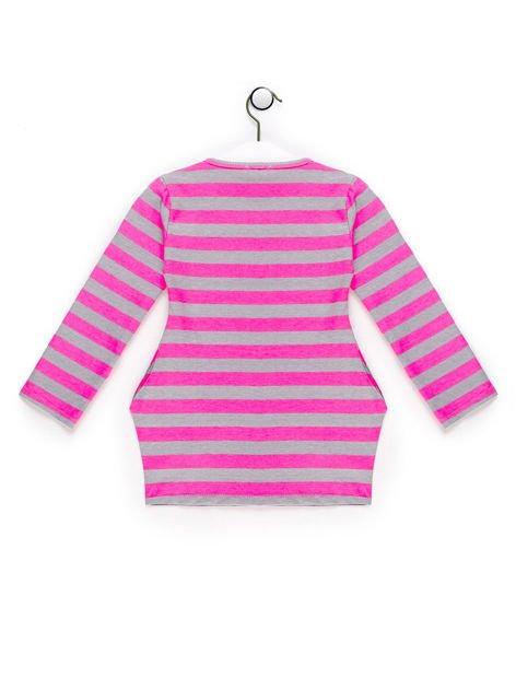 Tunika dla dziewczynki w paski różowa