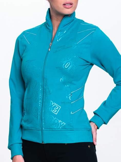 Turkusowa bluza sportowa z logo EXTORY                                  zdj.                                  5