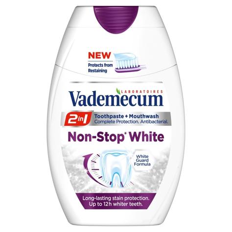 "Vademecum 2w1 Non-Stop White Pasta do zębów 75 ml"""