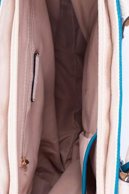 Wężowa torba shopper z niebieską wstawką                                  zdj.                                  4