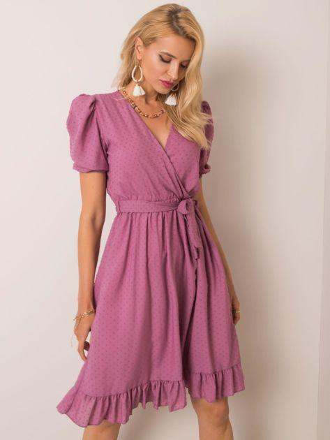 Wrzosowa sukienka Colette RUE PARIS