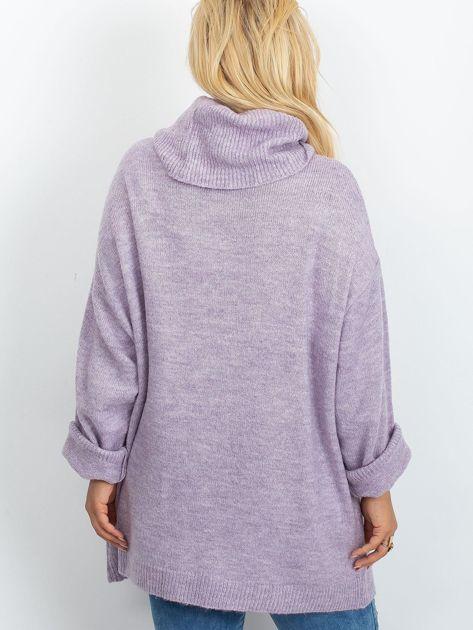 Wrzosowy sweter plus size Poline                              zdj.                              2