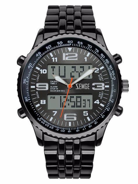 ZEMGE ZS0601 Zegarek sportowy męski Klasa wodoszczelności 3 ATM Chronograf Datownik Alarm Podświetlenie 2 Czasy                              zdj.                              1