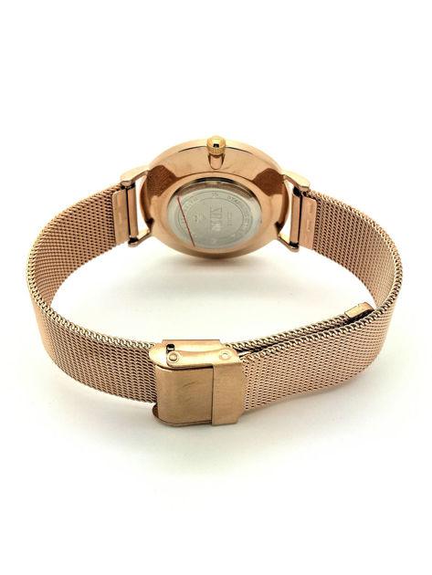ZEMGE Zegarek unisex czarno-złoty na bransolecie typu MESH Eleganckie pudełko prezentowe w komplecie                              zdj.                              4