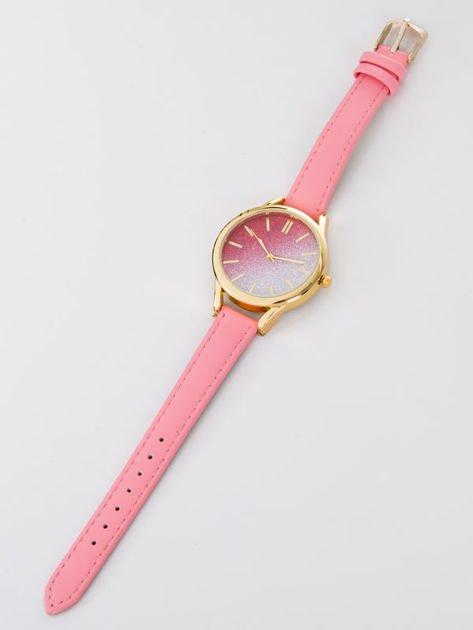 GLITTER OMBRE różowy zegarek damski                                  zdj.                                  4