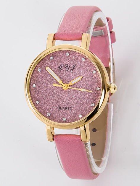 Zegarek damski Zegarek damski glitter różowy                              zdj.                              1