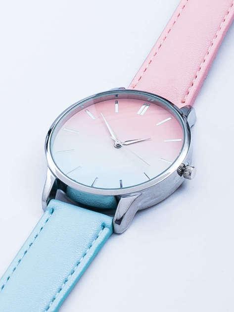 Zegarek damski ombre różowo- seledynowy