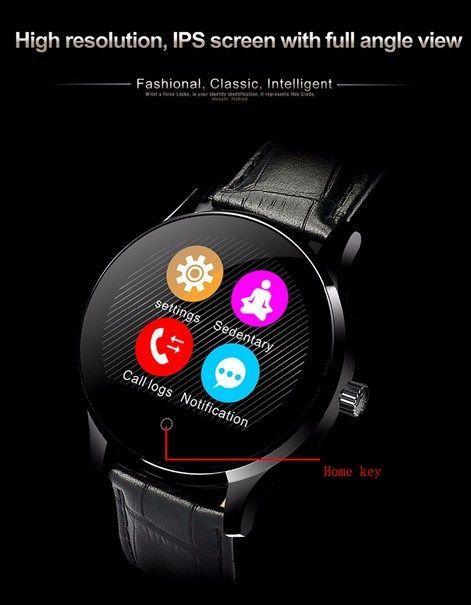 Zegarek smartwatch K88H brązowy Pulsometr Wodoodporny Siri                              zdj.                              2