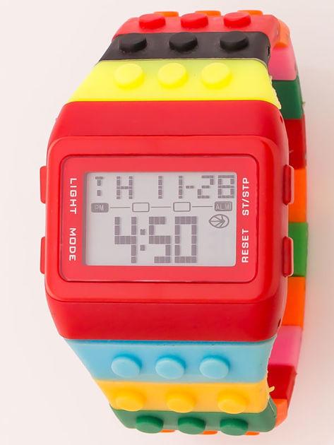 Zegarek unisex z kolorowych klocków Wiele wariantów kolorystycznych                              zdj.                              4