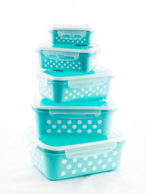 Zestaw jasnoniebieskie pojemniki do żywności 5 elementów                              zdj.                              11