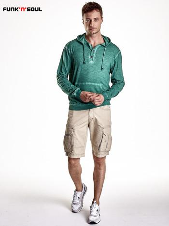 Zielona bluza męska z efektem acid wash Funk n Soul                                  zdj.                                  5