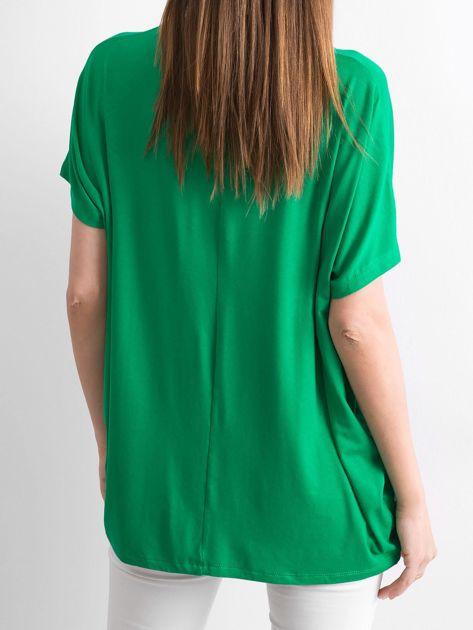 Zielona bluzka Oversize                              zdj.                              2