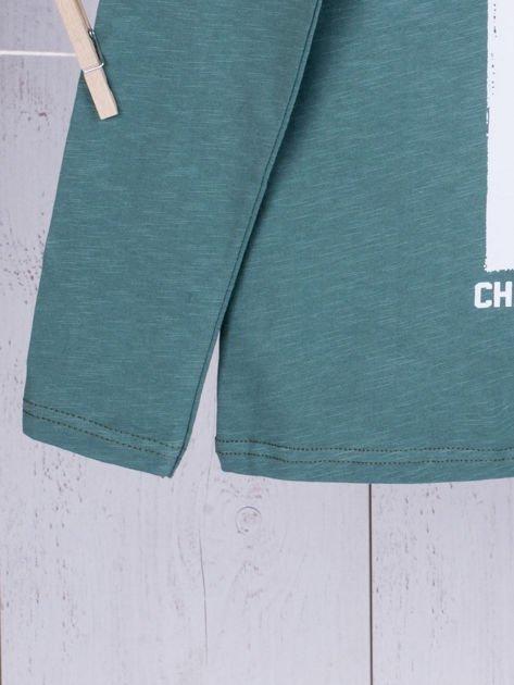 Zielona bluzka dziecięca urban print                              zdj.                              5