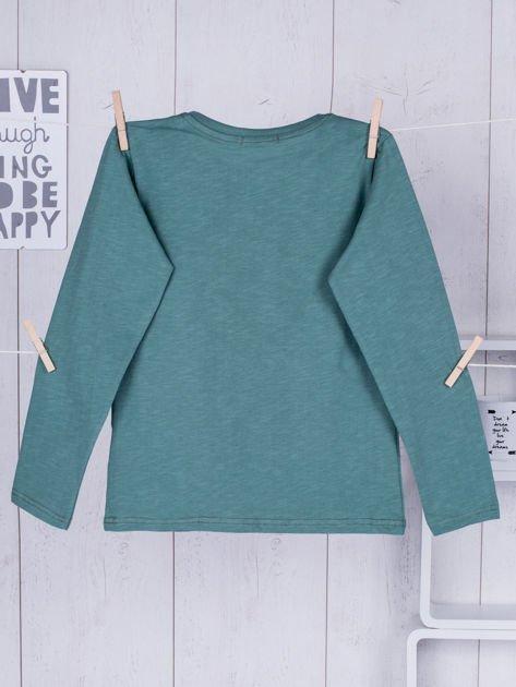 Zielona bluzka dziecięca urban print                              zdj.                              2