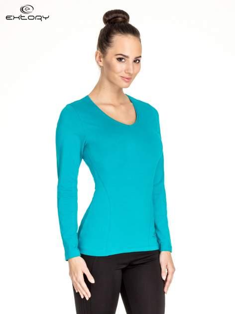 Zielona bluzka sportowa basic PLUS SIZE