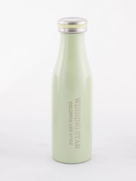 Zielona butelka termos z zakrętką                               zdj.                              3