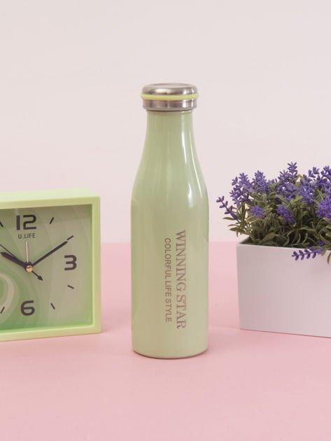 Zielona butelka termos z zakrętką                               zdj.                              5
