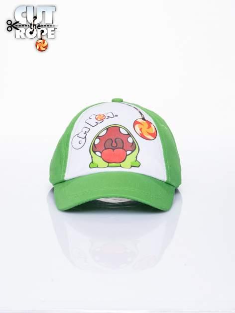 Zielona chłopięca czapka z daszkiem CUT THE ROPE
