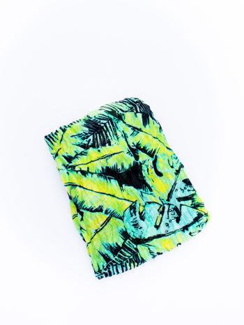 Zielona chusta z palmowym motywem                                   zdj.                                  3
