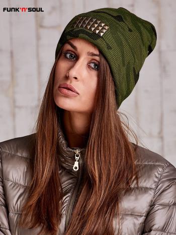 Zielona czapka moro z ćwiekami FUNK N SOUL                                  zdj.                                  3