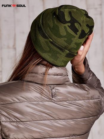 Zielona czapka moro z ćwiekami FUNK N SOUL                                  zdj.                                  5