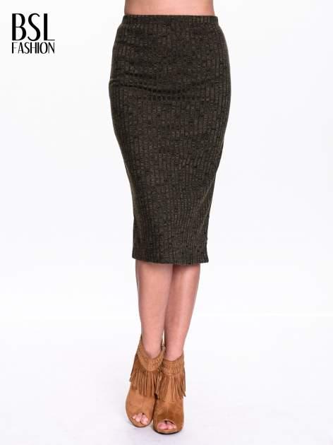 Zielona dzianinowa spódnica za kolono                                  zdj.                                  1