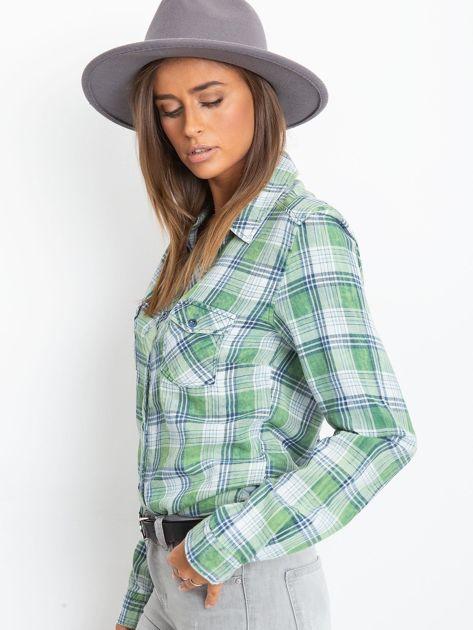 Zielona koszula w kratę                              zdj.                              3