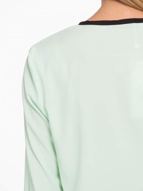 Zielona koszula z kontrastową listwą                                  zdj.                                  9