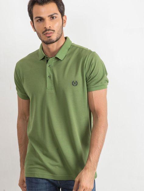 Zielona męska koszulka polo Reverse