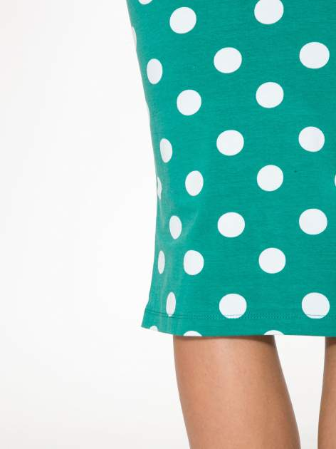 Zielona ołówkowa spódnica w groszki                                  zdj.                                  6