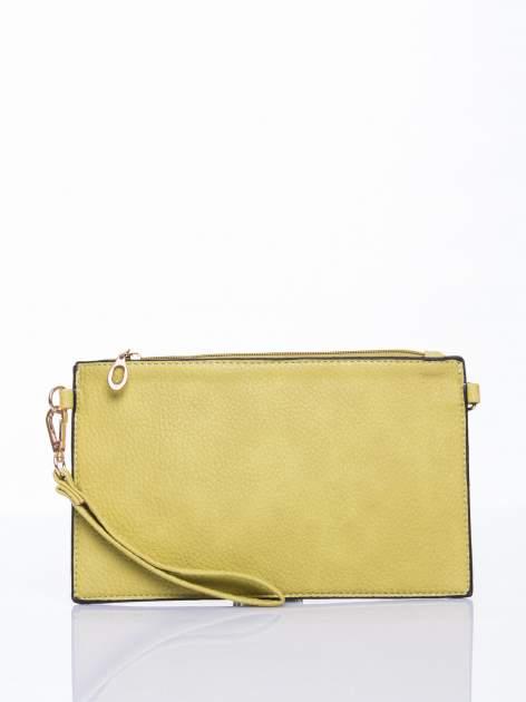 Zielona prosta przewieszana torebka z uchwytem                                  zdj.                                  2