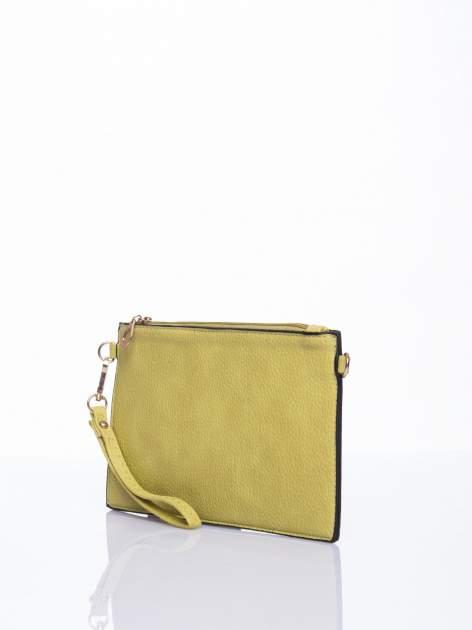 Zielona prosta przewieszana torebka z uchwytem                                  zdj.                                  3