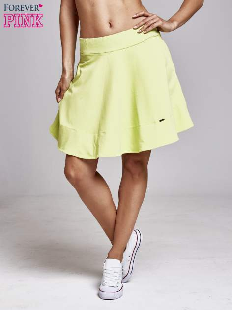 Zielona spódnica dresowa skater                                  zdj.                                  2