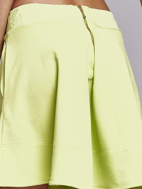 Zielona spódnica dresowa skater                                  zdj.                                  5