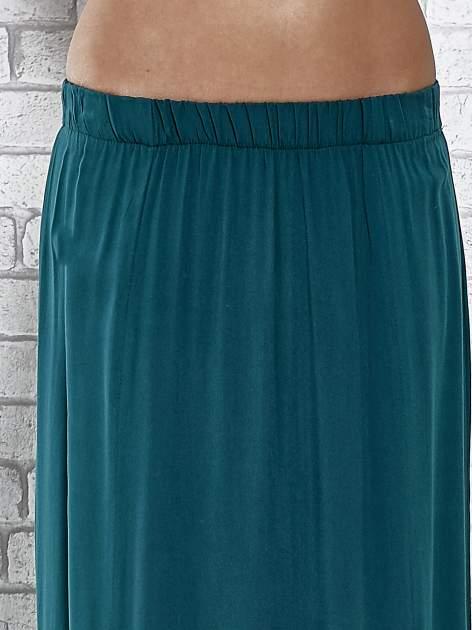 Zielona spódnica maxi z rozporkami z przodu                              zdj.                              5