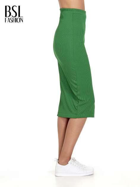 Zielona spódnica midi z suwakiem z przodu                                  zdj.                                  3