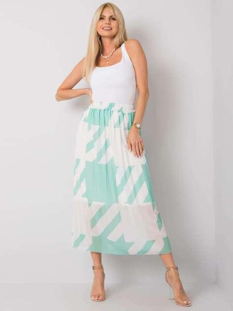 Zielona spódnica plisowana maxi Isidora