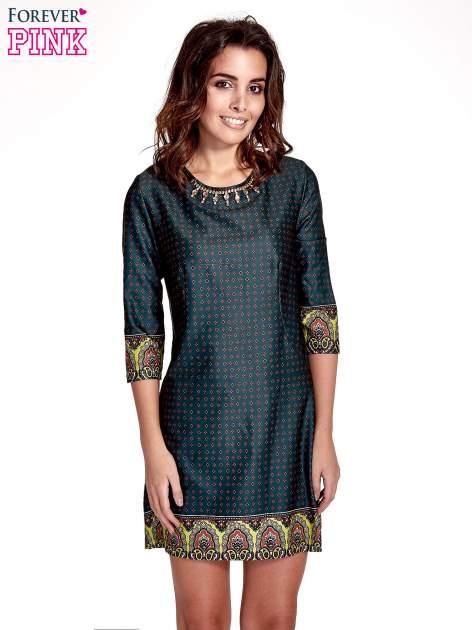 Zielona sukienka w indyjskim stylu                                   zdj.                                  1