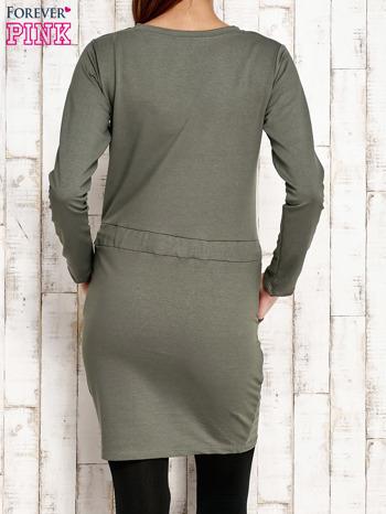 Zielona sukienka z wiązaniem                                   zdj.                                  2