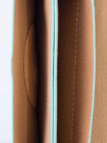 Zielona torebka listonoszka z klapką                                  zdj.                                  5